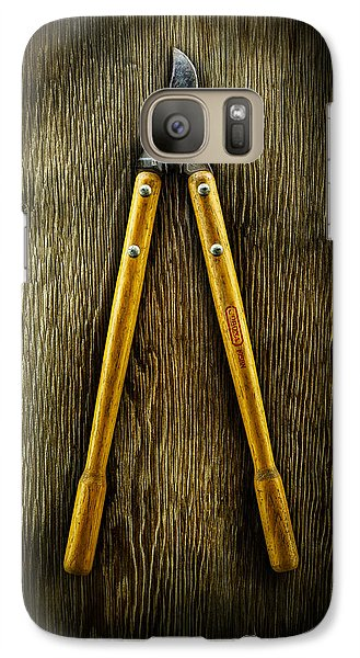 Tools On Wood 34 Galaxy S7 Case by YoPedro
