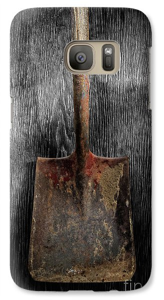 Galaxy Case featuring the photograph Tools On Wood 4 On Bw by YoPedro
