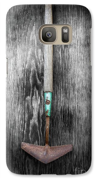 Galaxy Case featuring the photograph Tools On Wood 5 On Bw by YoPedro