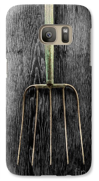Galaxy Case featuring the photograph Tools On Wood 7 On Bw by YoPedro