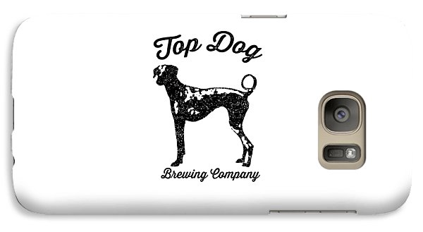 Beer Galaxy S7 Case - Top Dog Brewing Company Tee by Edward Fielding
