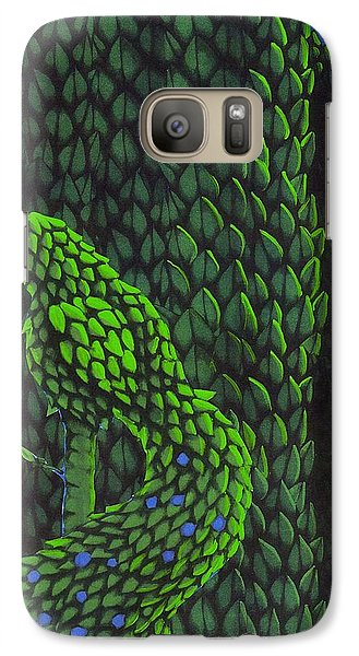 Galaxy Case featuring the drawing Topiary Peacock by Donna Huntriss