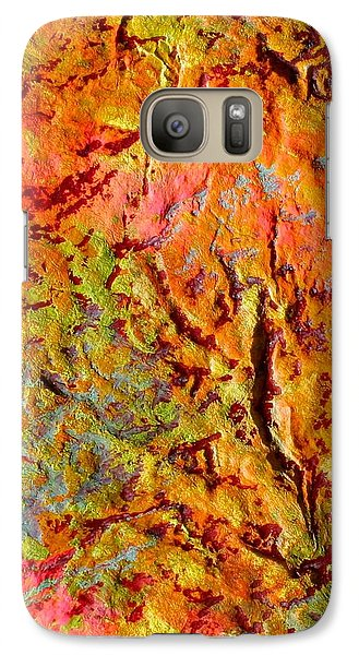 Galaxy Case featuring the painting Topographical Map Color Poem by Polly Castor