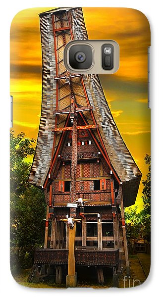 Galaxy Case featuring the photograph Toraja Architecture by Charuhas Images
