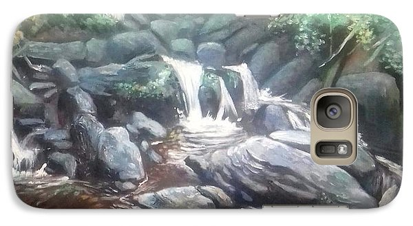 Galaxy Case featuring the painting Torc Waterfall County Kerry Ireland by Paul Weerasekera