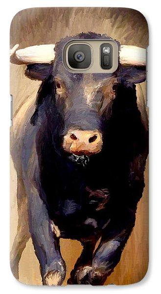 Galaxy Case featuring the painting Bull Toro Bravo by James Shepherd