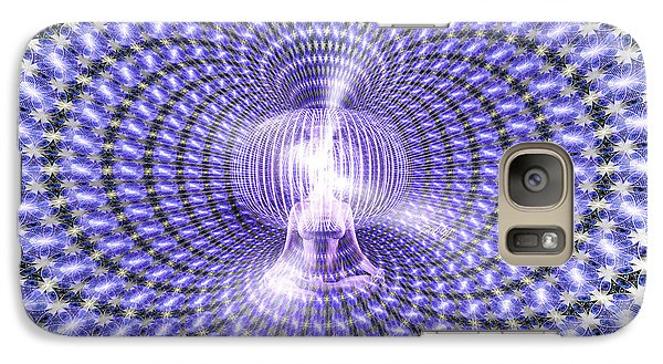 Galaxy Case featuring the painting Toroidal Hologram by Robby Donaghey