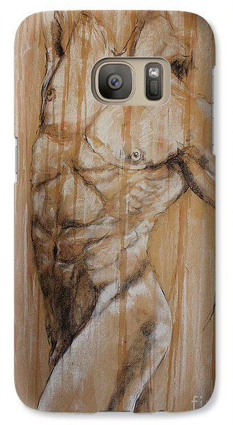 Galaxy Case featuring the drawing Torso by Debora Cardaci