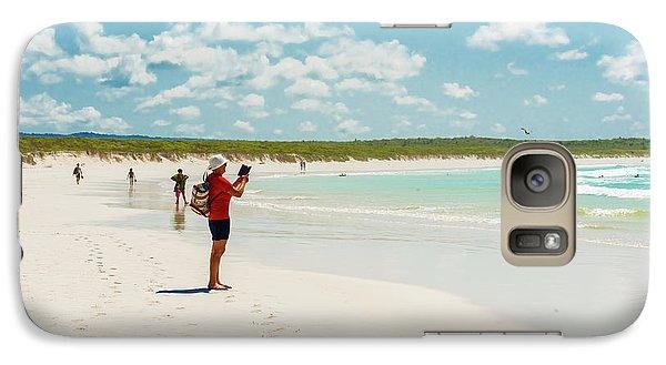 Galaxy Case featuring the photograph Tortuga Bay Beach At Santa Cruz Island In Galapagos  by Marek Poplawski