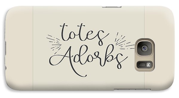 Galaxy Case featuring the digital art Totes Adorbs by Jaime Friedman