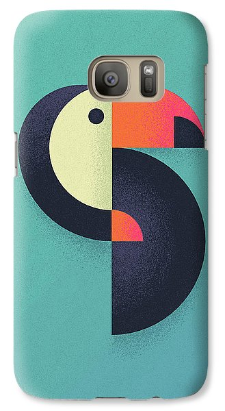 Toucan Geometric Airbrush Effect Galaxy S7 Case