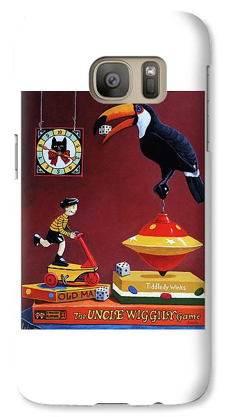 Galaxy Case featuring the painting Toucan Play At This Game by Linda Apple