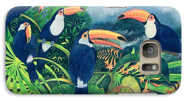 Toucan Talk Galaxy Case by Lisa Graa Jensen