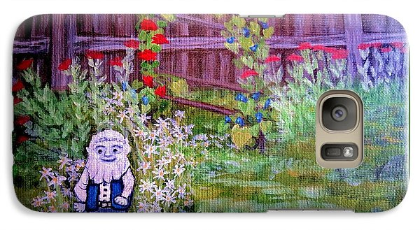 Galaxy Case featuring the painting Touched By A Gnome In Grandma's Secret Garden by Kimberlee Baxter