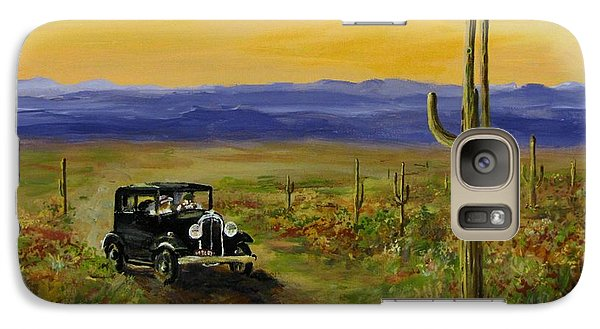 Galaxy Case featuring the painting Touring Arizona by Jack Skinner