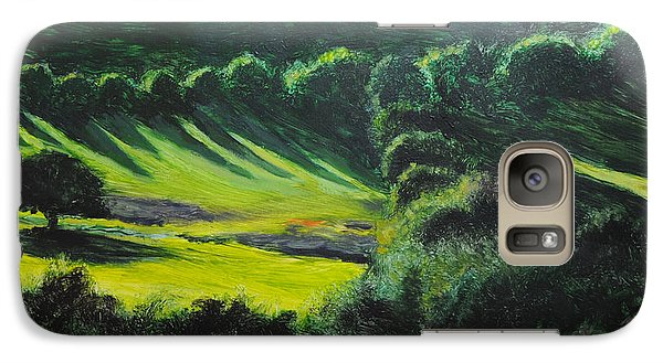 Galaxy Case featuring the painting Towards Corwen by Harry Robertson