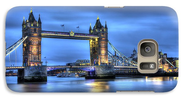 Galaxy Case featuring the photograph Tower Bridge London Blue Hour by Shawn Everhart