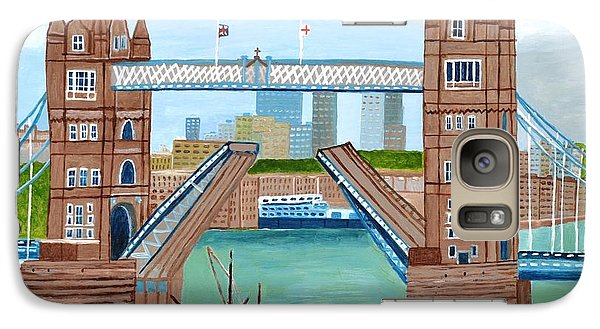Galaxy Case featuring the painting Tower Bridge London by Magdalena Frohnsdorff
