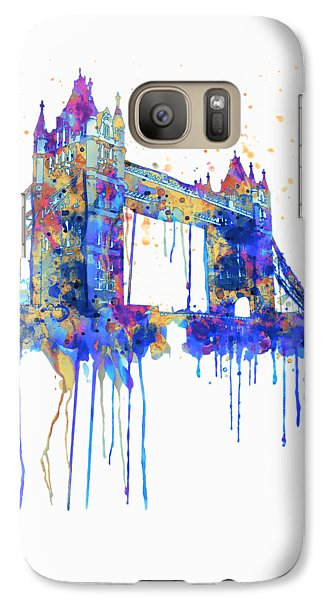 Tower Bridge Watercolor Galaxy S7 Case