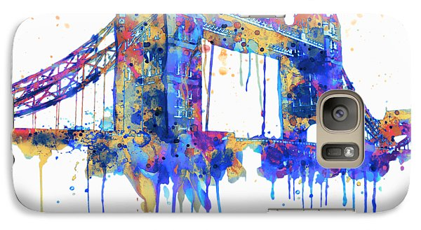 Tower Bridge Watercolor Galaxy Case by Marian Voicu