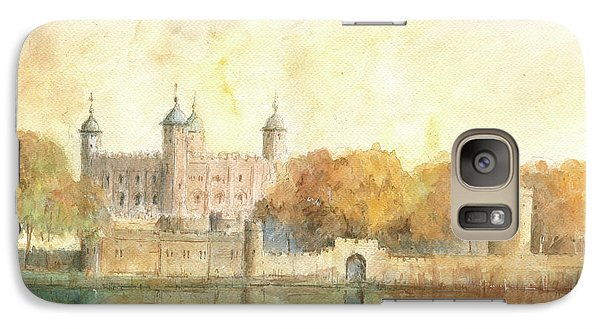 Tower Of London Watercolor Galaxy S7 Case