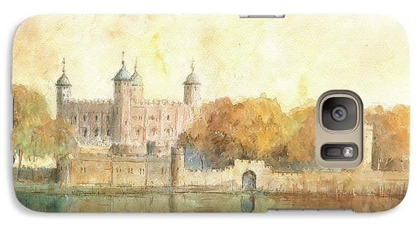 Tower Of London Watercolor Galaxy Case by Juan Bosco