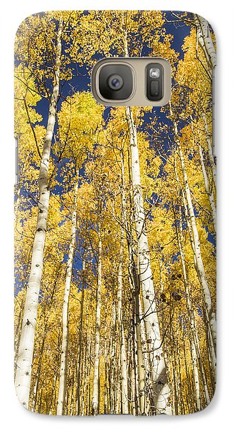 Galaxy Case featuring the photograph Towering Aspens by Phyllis Peterson