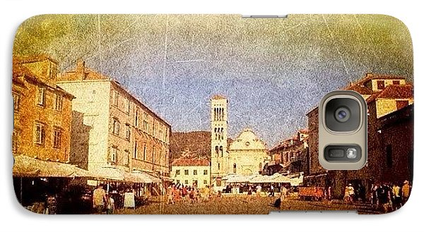 Town Square #edit - #hvar, #croatia Galaxy Case by Alan Khalfin