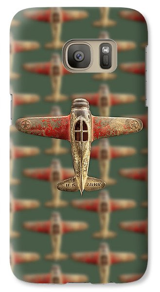 Galaxy Case featuring the photograph Toy Airplane Scrapper Pattern by YoPedro