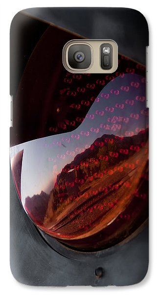 Galaxy Case featuring the photograph Track Reflections by Colleen Coccia