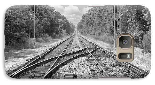 Galaxy Case featuring the photograph Tracks 2 by Mike McGlothlen