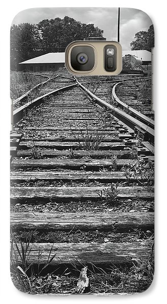 Galaxy Case featuring the photograph Tracks by Mike McGlothlen