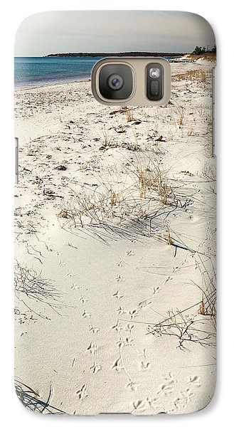 Galaxy Case featuring the photograph Tracks On The Beach by Michelle Wiarda
