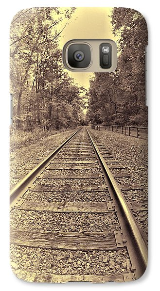 Galaxy Case featuring the digital art Tracks Through The Park by Dennis Lundell
