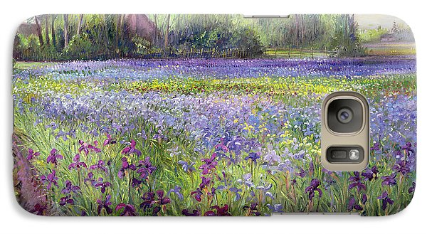 Trackway Past The Iris Field Galaxy Case by Timothy Easton