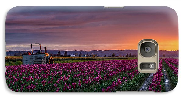 Galaxy Case featuring the photograph Tractor Waits For Morning by Mike Reid