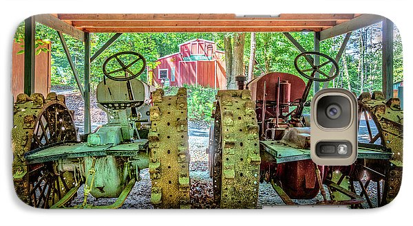 Galaxy Case featuring the photograph Tractors Side By Side by Debra and Dave Vanderlaan