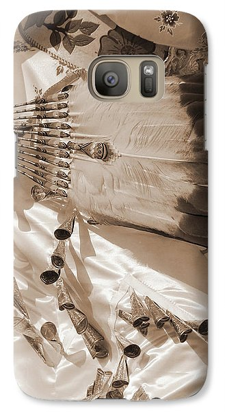 Galaxy Case featuring the photograph Traditional Dancer In Sepia by Heidi Hermes