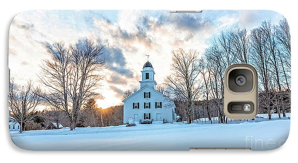 Galaxy Case featuring the photograph Traditional New England White Church Etna New Hampshire by Edward Fielding