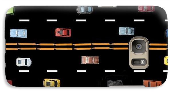 Galaxy Case featuring the photograph Traffic - Panorama by Nikolyn McDonald