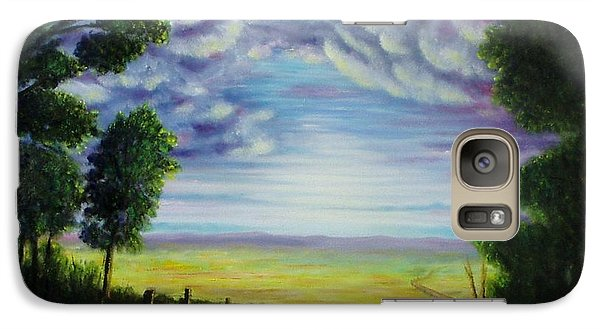 Galaxy Case featuring the painting Trail Away  by Gene Gregory
