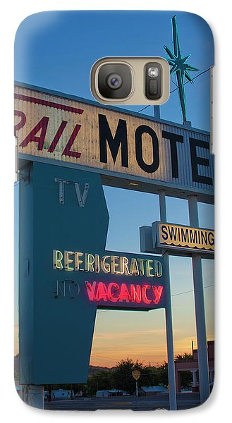 Galaxy Case featuring the photograph Trail Motel At Sunset by Matthew Bamberg