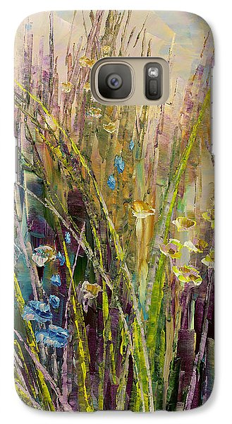 Galaxy Case featuring the painting Trail Of Beauty by Tatiana Iliina