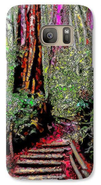 Galaxy Case featuring the digital art Trail Through The Redwoods - Tamalpais California by Joel Bruce Wallach