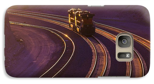 Train Galaxy S7 Case - Train At Sunset by Garry Gay