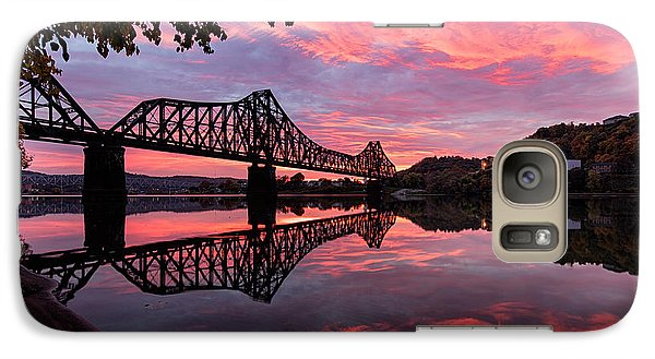 Beaver Galaxy S7 Case - Train Bridge At Sunrise  by Emmanuel Panagiotakis