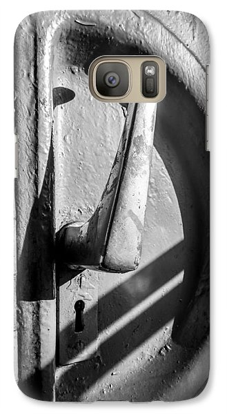 Galaxy Case featuring the photograph Train Door Handle by John Williams