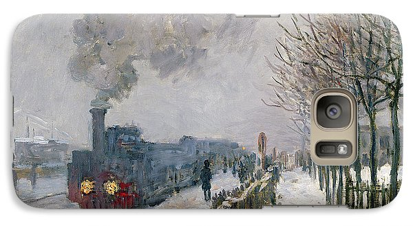 Train Galaxy S7 Case - Train In The Snow Or The Locomotive by Claude Monet