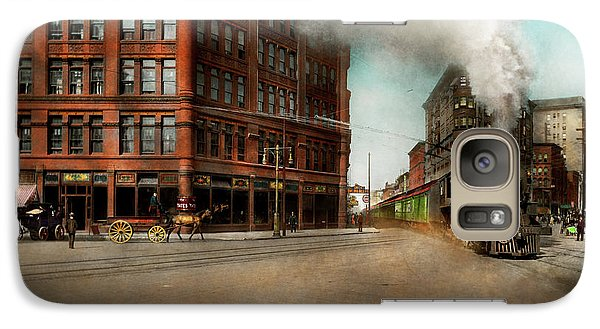 Galaxy Case featuring the photograph Train - Respect The Train 1905 by Mike Savad