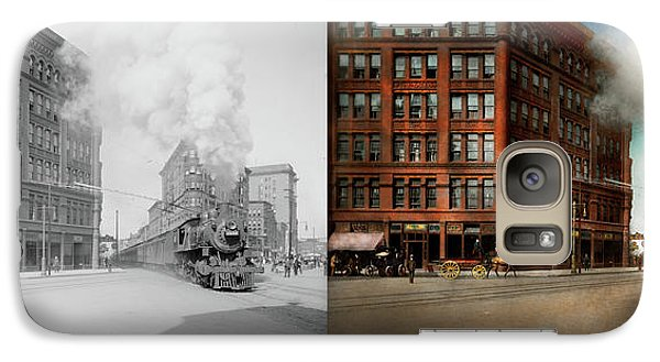 Galaxy Case featuring the photograph Train - Respect The Train 1905 - Side By Side by Mike Savad
